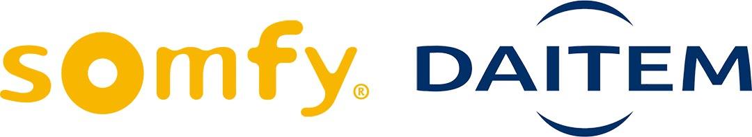 Logos Somfy et Daitem