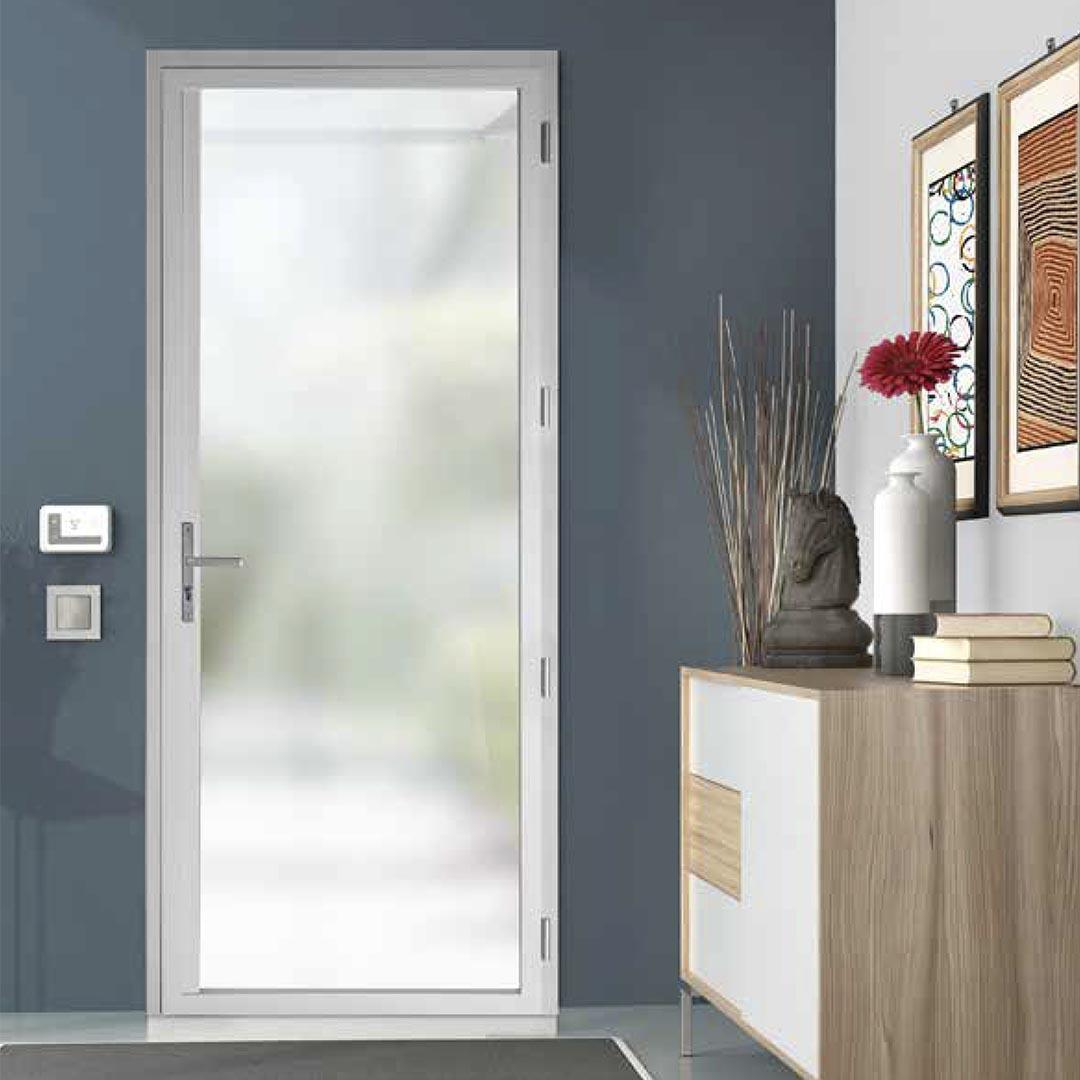 Porte entrée acier et aluminium